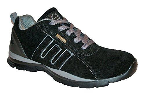 Groundwork GR86 Chaussures de sécurité pour femme Surface cuir Multicolore - Black/pink