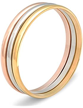 Besteel Armschmuck Armreif für Mädchen und Damen Armband Edelstahl Dreifarbig 3 Pro Set Durchmesser: 6.5cm