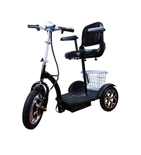 Triciclo Eléctrico Adultos - Silla de Ruedas Eléctrica Ciclomotor Scooter Movilidad Reducida...