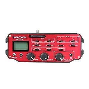 Saramonic SR-AX107 Zwei-Kanal-XLR-Audio-Adapter mit Vorverstärker, Phantomspeisung und Trenntransformator für DSLR Kameras und Camcorder