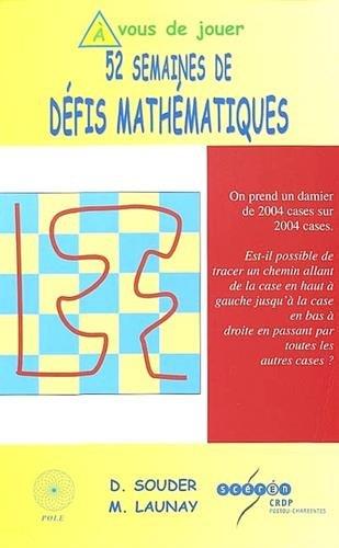 52 semaines de défis mathématiques