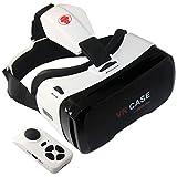 (Versión Mejorada) VR Case 6 Gafas de Realidad Virtual 3D con ajustable lente y Correa + Inalámbrico Mando Control Remoto para Videojuegos y 3D películas para iPhone 7 6s 6 plus Samsung S5 Edge Note 4,7 a 6,0 pulgadas Smartphone, Gafas VR