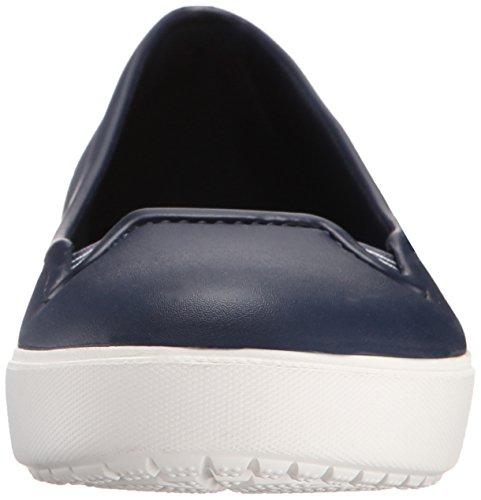 crocs Damen Citilaneflatw Geschlossene Ballerinas Blau (Navy/White)