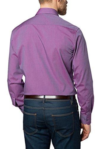 Eterna Long Sleeve Shirt Modern Fit Fil à Fil Uni Lilla