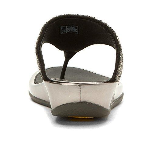 Post FitFlop™ Banda Roxy Toe Womens Sandali Pewter Crystal