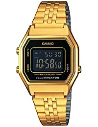 Casio Damen Armbanduhr Collection Digital Quarz Edelstahl La680Wega-1Ber