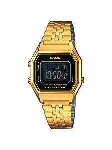 Casio Damen Armbanduhr Collection Digital Quarz Edelstahl La680Wega-1Ber