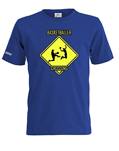 BASKETBALLER CROSSING - KIDS - T-SHIRT by Jayess-Kids Gr. 98/104 - 152/164 Royalblau