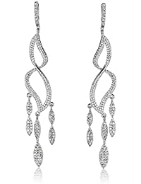 SHAZE Rhodium Plated Glam Twists Earrings For Women|Earrings For Women|Earrings For Women Stylish