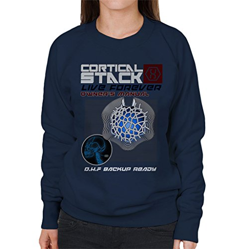 Cortical Stack Owners Manual Altered Carbon Women's Sweatshirt Navy blue