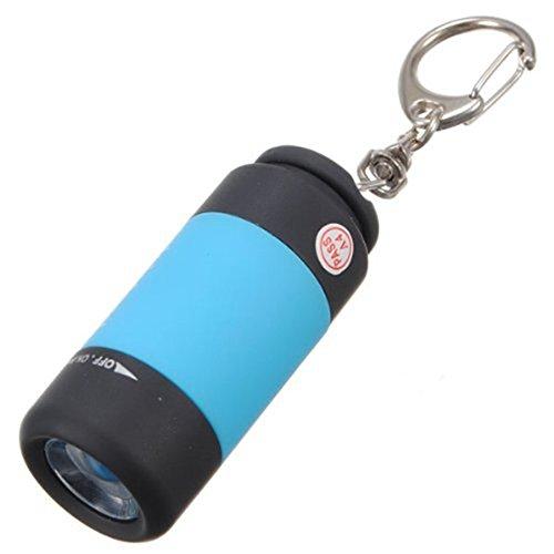 TOOGOO(R) 1 pcs Mini USB torche lampe de poche led portable rechargeable porte cle