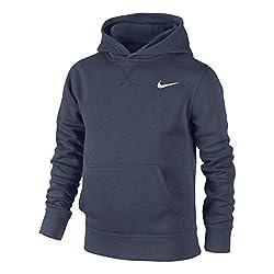 Nike Jungen Kapuzenpullover Brushed Fleece, obsidian/white, XL, 619080-451
