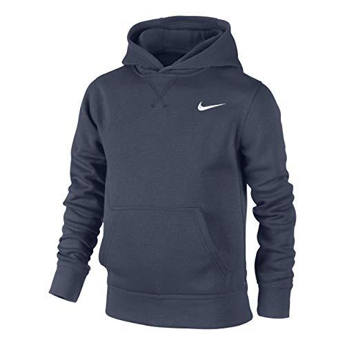 Nike Jungen Kapuzenpullover Brushed-Fleece, obsidian/weiß, XS, 619080-451, XS