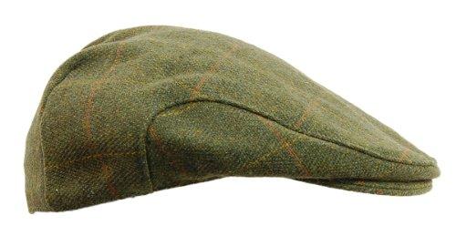 6c-mens-dark-derby-tweed-flat-cap-teflon-coated-sizes-xs-xxl