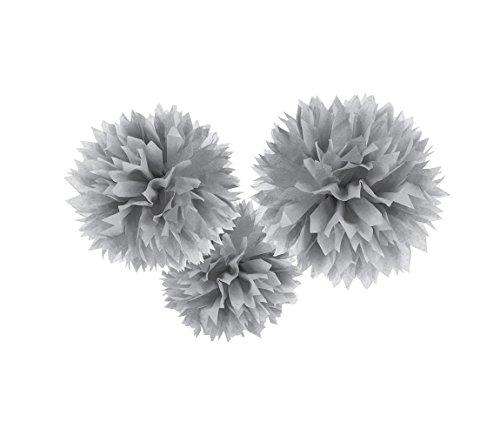Amscan 18055-18-55 Fluffy Dekobälle, Silber Preisvergleich