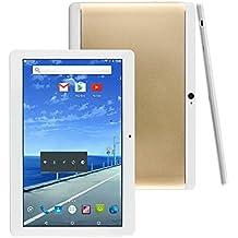 "Fonxa Tablet de 10.1"" - with Protect Case, 2GB Ram + 32GB Rom, Dual SIM , 2017 Nuevo Metal Shell Design, 1280x800 HD screen, Gold"