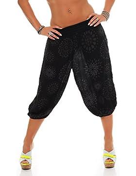 ZARMEXX Signore 3/4 bloomers dei pantaloni breve estate di stile Capri Pants Harem yoga Aladin al ginocchio Taglia