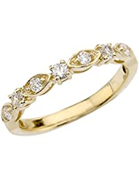 10 ct Yellow Gold Engagement/Anniversary Band With Cubic Zirconia