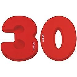 Gran número 30 de silicona Cake Tin Molde Perla 30 aniversario de boda, cumpleaños 3 0