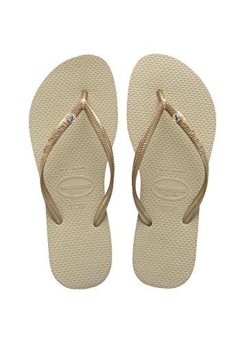Havaianas Damen Slim Crystal Glamour Sw Zehentrenner, Beige (Sand Grey/Light Golden), 41/42 EU (39/40 BR)