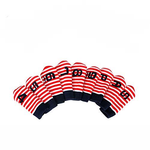 LanglebigPraktisch 10pcs Golf Head Cover Schläger Eisen Putter Head Protector Set Golf Putter Headcover langlebigPraktisch (Farbe : C3, Größe : Free) -