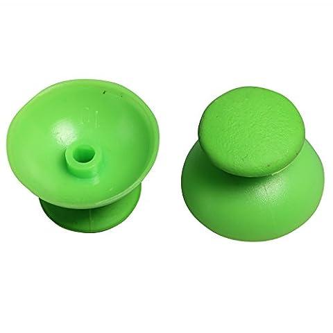 eJiasu Analog Thumbsticks-Controller Mod Thumb-Stick Gummigriff Joysticks Cap für PS3 PlayStation 3 Controller (1 Paar / 2 Stück) (grün 2 Stück)