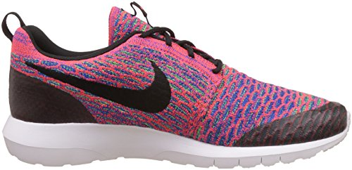 Nike Herren Roshe NM Flyknit SE Sneakers Mehrfarbig (Bright Crimson/Green Strike/Game Royal/Schwarz)