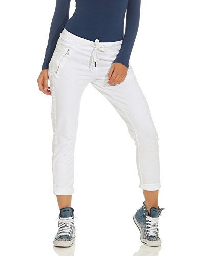 ffc4d747a9d9e6 ZARMEXX Damen Hose Sweatpants Vintage Baumwolle Freizeithose mit  Zierstreifen 816133 Business Casual Jogstyle