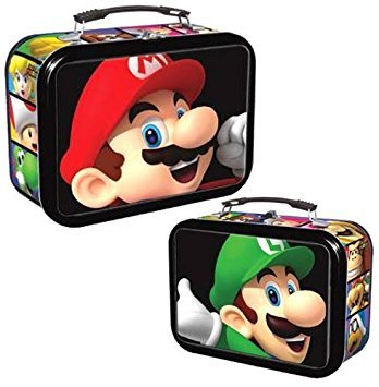 Super Mario Lunch Box Collector Tin w/ 3 Dog Tags, Poster and Trading Cards by EnterPlay - Poster Trading Card