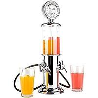 oneConcept Hazzlehov Duett Bar Butler distributore di bevande (2 dosatori, 2 x 450 mm, design vintage, cura dei particolari, due tubi con spillatore, facile e pratico da usare) - argento