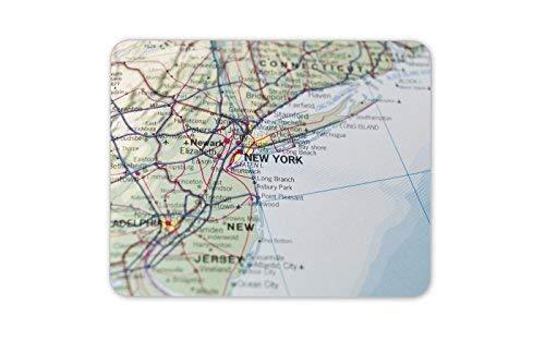 New York Karte Mauspad Pad - Geographische USA Amerika Geschenk PC Computer # 8238