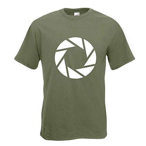 KIWISTAR - Aperture Science - Portal T-Shirt in 15 verschiedenen Farben - Herren Funshirt bedruckt Design Sprüche Spruch Motive Oberteil Baumwolle Print Größe S M L XL XXL Olive