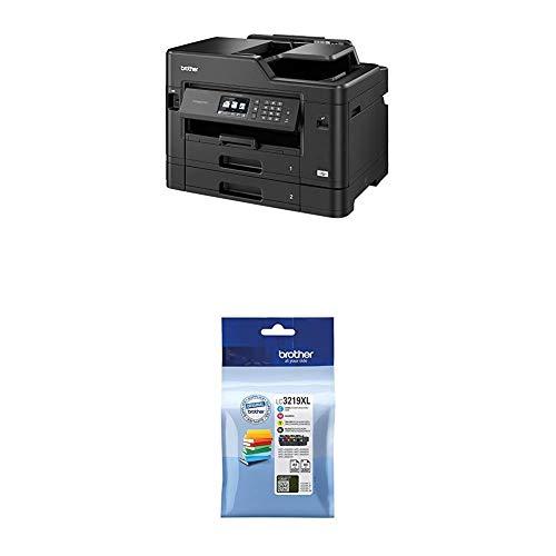 Brother MFC-J5730DW 4-in-1 Farbtintenstrahl-Multifunktionsgerät (2 x 250 Blatt Papierkassette, Drucken, scannen, kopieren, faxen) + LC-3219XL Original Tintenpatronen im Value Pack, schwarz, cyan, magenta, gelb