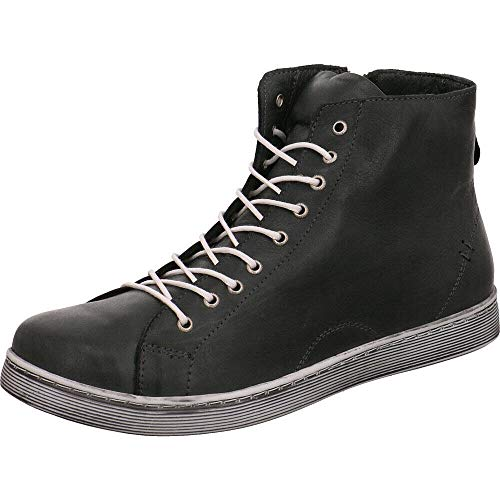 Andrea Conti Sneaker high 0341500 Damen Schnürboots mit Reißverschluss, Schuhgröße:40 EU, Farbe:Schwarz