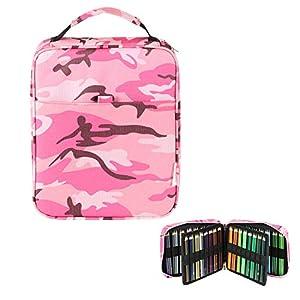 Lumsburry – Estuche universal para lápices de colores para 150 lápices/120 marcadores de gel de varias capas para bolígrafos, organización, escuela, suministros de arte