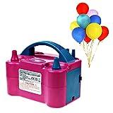 Binnan Elektrische Luftballonpumpe,Tragbar Aufblasgerät Ballonpumpe mit Zwei Düsen für Luftballon