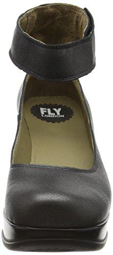 FLY London Heli797fly, Escarpins Femme Noir (Graphite 005)