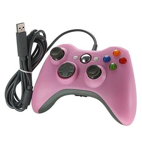 Xbox 360 Controller, Stoga Kabelgebundene USB Gamepad Controller für MICROSOFT Xbox 360 PC Windows7 XP-Rosa