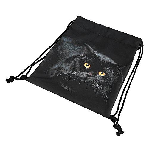 Kordelzug Rucksack 3D Digital Druck Rucksack Outdoor Bag Sport Gym Sack Rucksack mit Seitentasche leicht #2