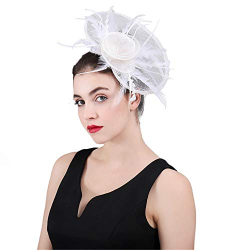 Kanqingqing Partyhochzeitshut der Frauen, Damen Fascinator Formaler Hut für Hochzeits-Abschlussball-Cocktailparty-Hochzeiten-Rennen Blumenhochzeitskopfschmuck der Frauen