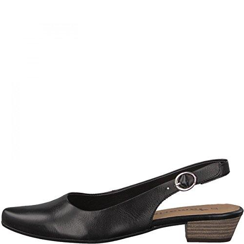 Tamaris Damen 29400 Slingback Sandalen Schwarz (Black Leather)