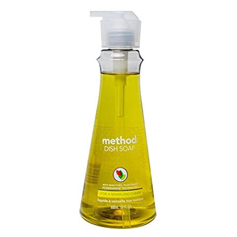 Method Home Care Products 01179 18 Oz Lemon Mint Dish Soap Pump - Pack of 6