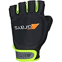 Grays Touch Right Guantes, Unisex, Black/Fluo Yellow, Medium