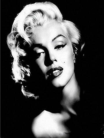 5D DIY Full Kunstharz Diamanten Malen nach Zahlen Kits, Marilyn Monroe, 30x 40cm