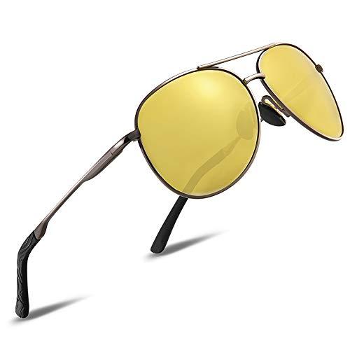 HD Nachtsichtbrille Autofahrer Brille gelbe linse Herren und Damen Nachtsicht Anti-glanz Nachtfahrbrille Fahrer Auto (nachtsichtbrille001)
