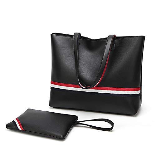 Totes Damen Handtasche Geldbörsen und Handtaschen Damen Designer Satchel Tote Bag Schultertasche Mode Taschen JFCUICAN (Color : Schwarz, Size : Onesize) -