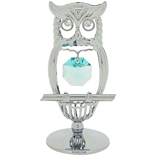 crystocraft-owl-free-standing-silvertone-ornament-made-with-green-swarovski-elements