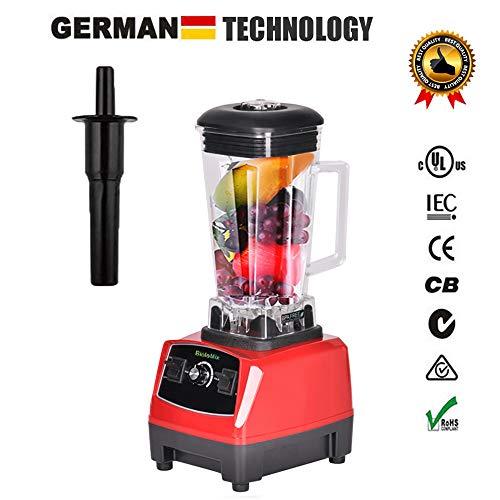 2200W Hochleistungs-Mixer Mixer Entsafter Hochleistungs-Küchenmaschine Ice Smoothie Bar Fruit Blender,Red