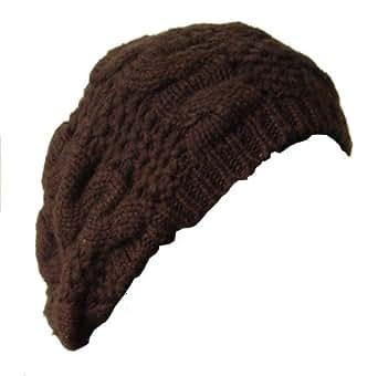 Bonnet - Beret Laine - Marron