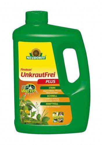 Finalsan UnkrautFrei Plus, schnelle Wirkung biologisch abbaubar, 2 Liter Flasche (Trockene Dünger Algen)